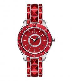 Christian Dior Red Ceramic Watch