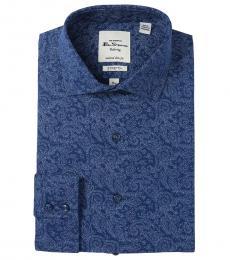 Blue Tailored Slim Fit Dress Shirt