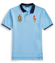 Boys Blue Lagoon Big Pony Crest Polo