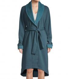 Teal Duffield Fleece Robe