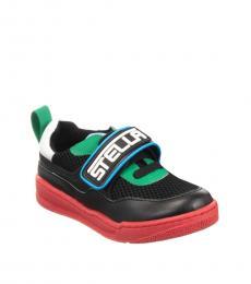 Stella McCartney Little Girls Black Velcro Closure Sneakers