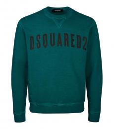 Dsquared2 Teal Logo Graphic Sweatshirt