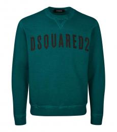 Dsquared2 Teal Logo Graphic Sweatshirt
