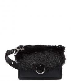 Rebecca Minkoff Black Faux Fur Jean Small Crossbody