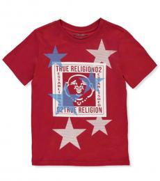 True Religion Boys Ruby Red Buddha Graphic T-Shirt