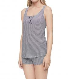 Calvin Klein Blue Racerback Tank Shorts Pajama Set