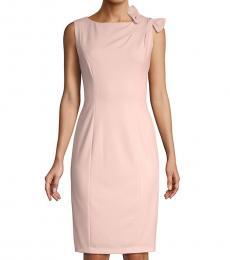 Calvin Klein Petal Bow-Shoulder Sheath Dress