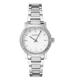 Versace Silver Logo Watch