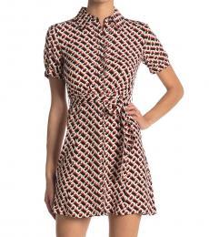 Diane Von Furstenberg Red Mini Wrap Shirt Dress