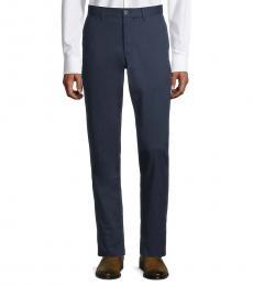Michael Kors Navy Blue Slim-Fit Chino Pants