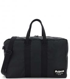 Alexander McQueen Black Solid Large Duffle Bag