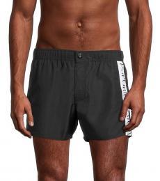 Emporio Armani Black Side Logo Swim Shorts