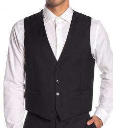 Calvin Klein Black Twill Slim Fit Vest