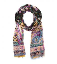 Etro Black Multi Scarf