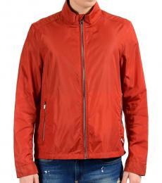 Red Full Zip Windbreaker Jacket