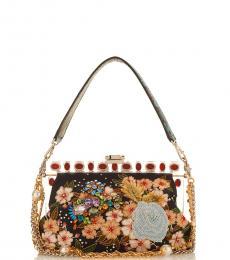Dolce & Gabbana Multicolor Floral Small Satchel
