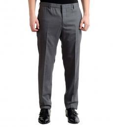 Grey Flat Front Dress Pants