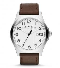 Brown Jimmy White Dial Watch