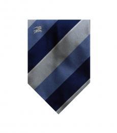 Burberry Blue Dapper Stripes Silk Tie
