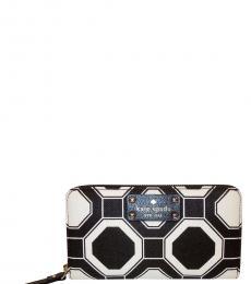 Kate Spade Black/Cream Wellesley Wallet
