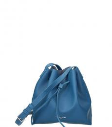 Lancaster Paris Blue Logo Mini Bucket Bag