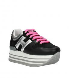 Black Silver Platform Sneakers