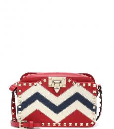 Valentino Garavani Red Zig Zag Small Crossbody