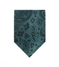 Dolce & Gabbana Green Neat Paisley Print Tie