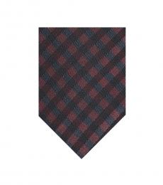 Ben Sherman Red-Navy Gingham Silk Tie