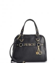 Juicy Couture Black Sweet Surrender Dome Small Satchel