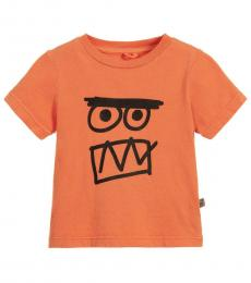 Stella McCartney Baby Boys Orange Graphic T-Shirt
