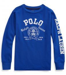 Ralph Lauren Little Boys Heritage Royal Graphic T-Shirt