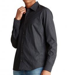 Black Contrast Printed Woven Shirt