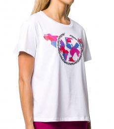 Emporio Armani White Printed T-Shirt