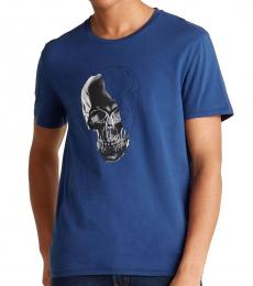 Dark Blue Graphic Skull T-Shirt