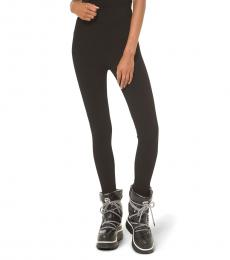 Black Logo Stirrup Leggings