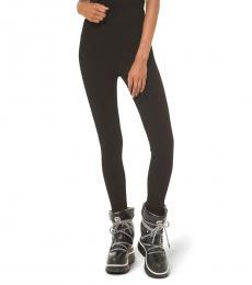 Michael Kors Black Logo Stirrup Leggings