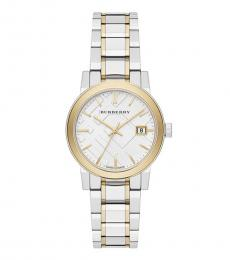 Burberry Silver Gold Two-Tone Watch