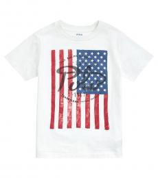 Ralph Lauren Little Boys White Flag T-Shirt
