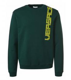 Versace Collection Dark Green Logo Pullover Sweater
