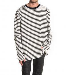 Diesel White Daichi Stripe T-Shirt
