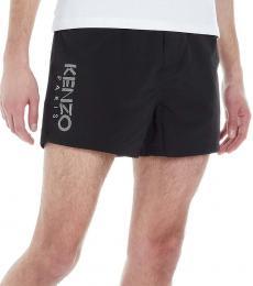 Kenzo Black Side Logo Active Shorts