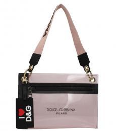 Pink Logo Strap Medium Shoulder Bag
