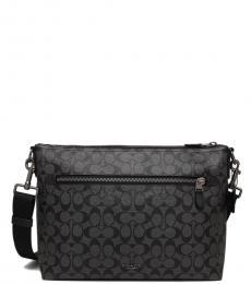 Charcoal Signature Graham Large Messenger Bag