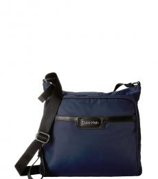 Calvin Klein Navy Lane Large Messenger Bag