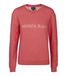 Armani Jeans Coral Logo Pullover