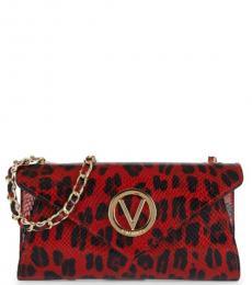 Mario Valentino Red Tatin Envelope Medium Shoulder Bag