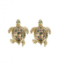 Gold Turtle Earrings