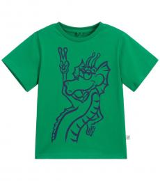 Boys Green Graphic T-Shirt