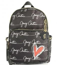 Juicy Couture Black Love Letters Large Backpack